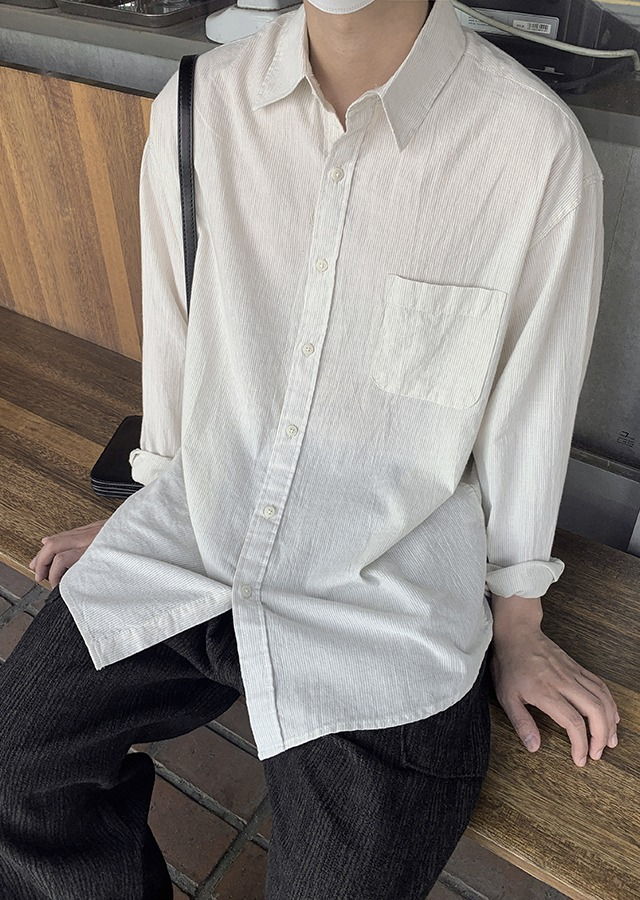 Mode Stripe Shirt (beige)