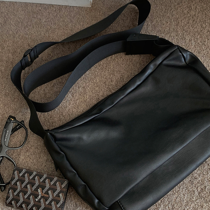 Leather CrossBag (black)