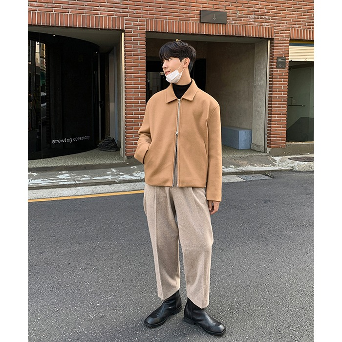 Two Button PinTuck Wool Pants (3color)