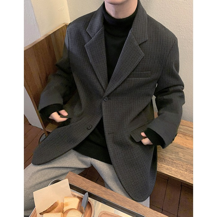 Marty Check Wool Jacket (3color)