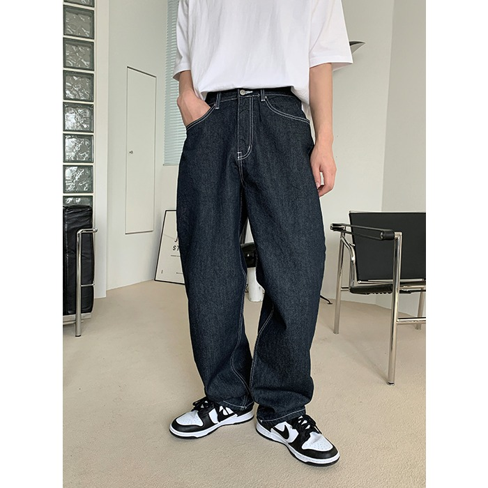 Monter Wide Denim Pants (2color)