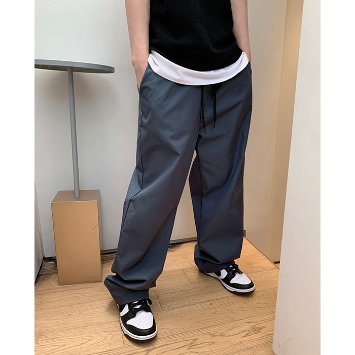 Twill String Wide Pants (2color)