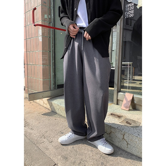 NToo Banding Wide Pants (5color)