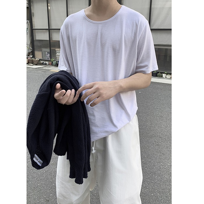 Basic U-Neck Short Sleeve Tee (4color)[5.11 Restock]
