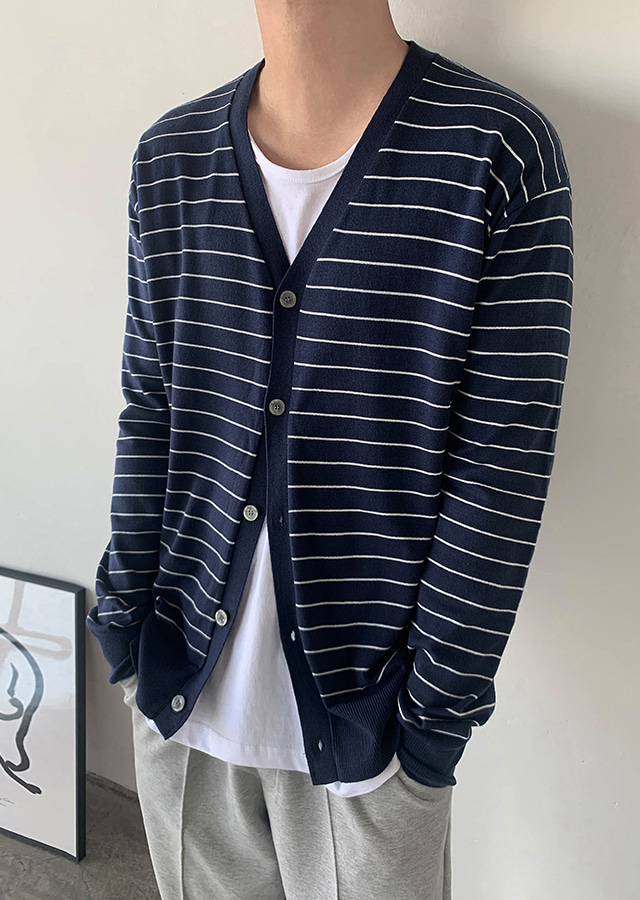 APIU Stripe Cardigan (3color)
