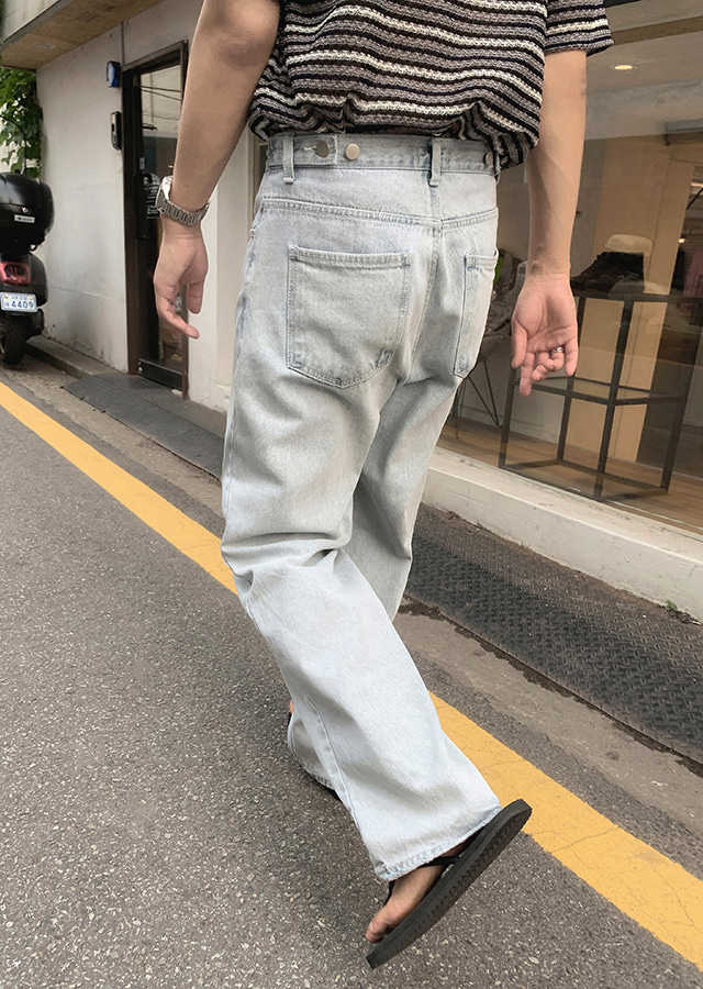 Jacks Wide Bijou Denim Pants (2color)