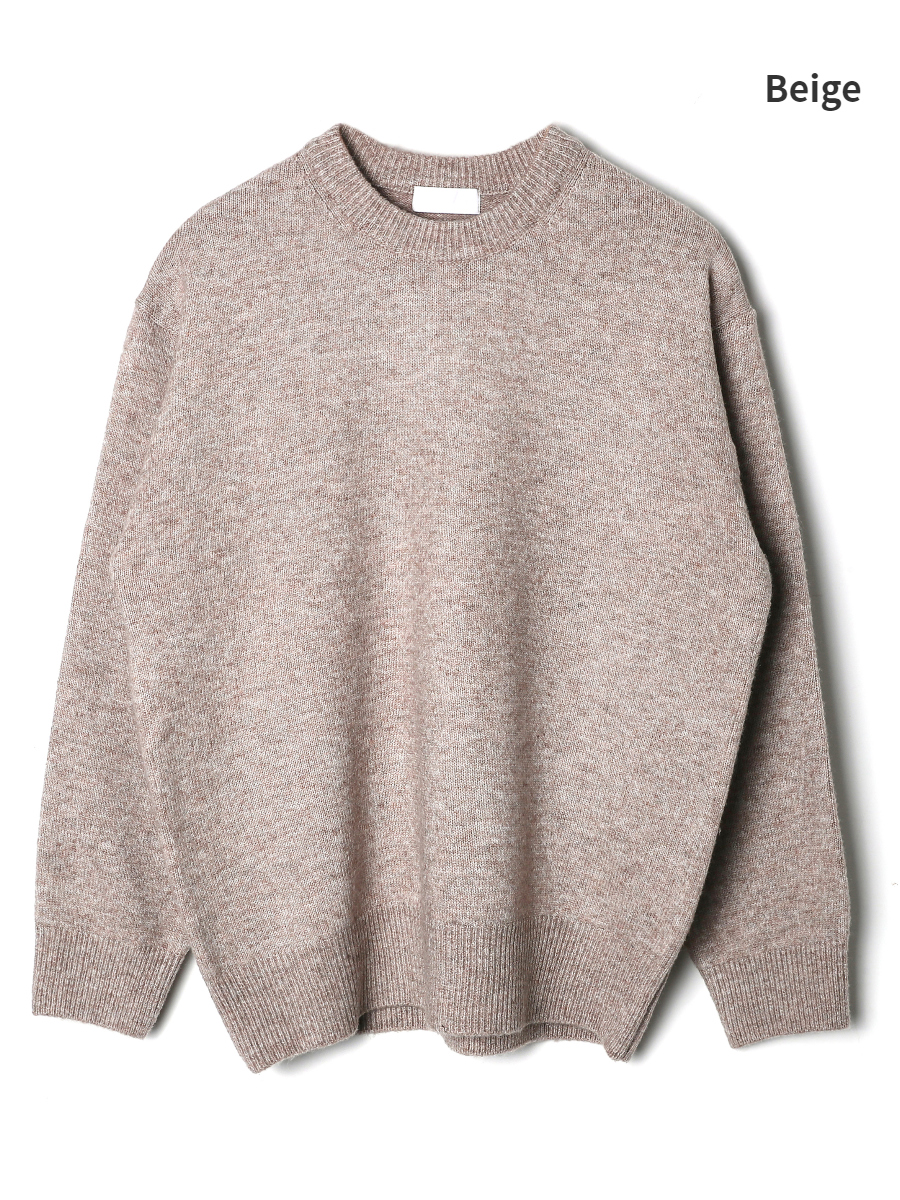 long sleeved tee cream color image-S2L1